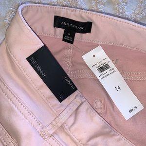 Ann Taylor Light Pink Skinny & Curvy Jeans